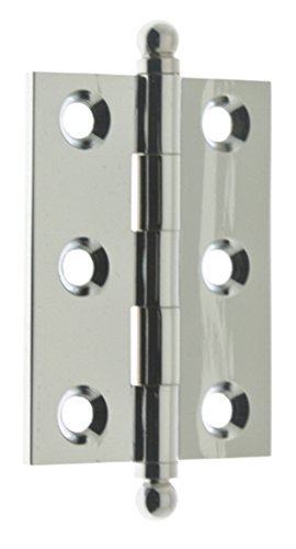 Cabinet Chrome Hinges (idh by St. Simons 82015-026 Professional Grade Quality Solid Brass 2