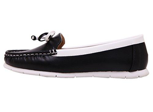 Dqq Womens Slip-on Mocassins Chaussures Plates Noires