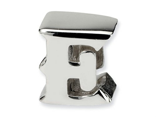 Reflections Sterling Silver Letter E Bead / Charm
