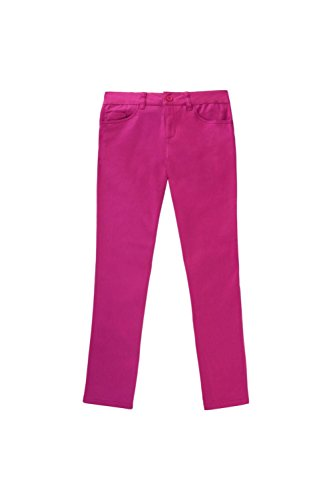 French Toast Little Girls' Skinny Zip Back Pant Ankle Length, Medium Pink, (Back Zip Pant)