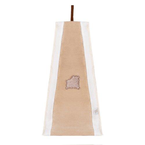 Câlin Câline Lulu 805.22 - Bolsa para pañales y pijamas, diseño con bordado de galleta mordida, color marrón y blanco