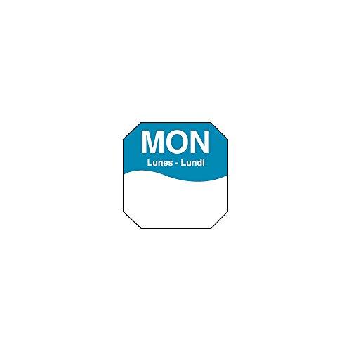 DayMark 1100601 Trilingual Octagonal 1'' Monday Day Label - 1000 / RL by DayMark Safety Systems