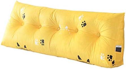 三角ファイルオフセット、ソフトポケット枕、4色、5サイズ(色:黄色サイズ:180CM)