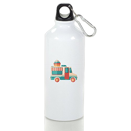 Ice Cream Van Aluminum Outdoor Water Bottle For Office