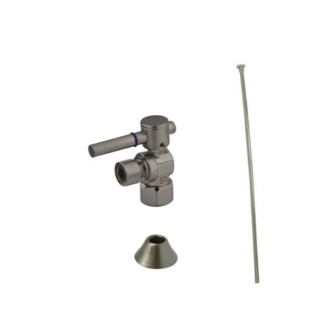 Kingston Brass CC43108DLTKF20 Comtemporary Plumbing Toilet Trim Kit, Satin Nickel