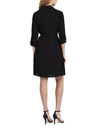 Lipsy Mujer Vestido Camisero Negro
