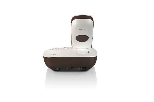 Gigaset CL540A - Teléfono inalámbrico con contestador automático, blanco y marrón: Amazon.es: Electrónica
