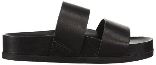 Slide Pool Women's Black Sandal Spiga Milton Leather Via wtIqvTB
