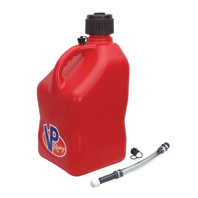 VP Racing5 Gallon Square Red Racing Utility Jug with Deluxe Filler Hose