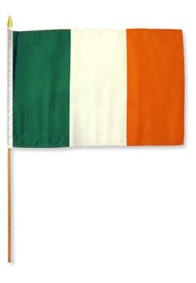 One Dozen Ireland 12x18in Stick Flags. For Sale