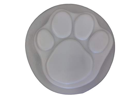 Small Dog Cat Paw Print 7 in Stepping Stone Concrete Plaster Mold 1018 (Mold Concrete Cement Plaster)