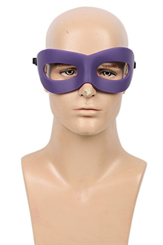 Xcoser Super Villains Eye Mask Props for Masquerade Halloween Cosplay Resin Purple -