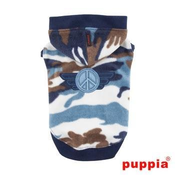 Corporal Hooded Dog Shirt by Puppia - Blue by Puppia