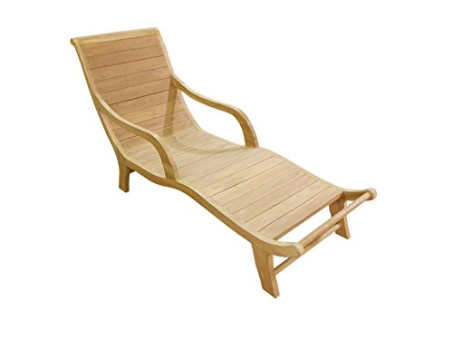 - Ben&Jonah Garden of Eve Collection Teak Curved Resting Lounger