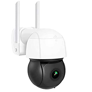 Outdoor PTZ AI Detection Camera, WiFi 1080P Camera,4X Zoom IP Camera, with Two-Way Audio Color Night Vision Motion Detection, IP66 Weatherproof Camera, Support TF Card/Cloud Storage