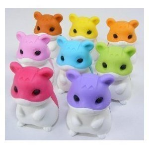 Hamster Japanese Erasers - Colors May Vary (Iwako Erasers For Kids Hamster)