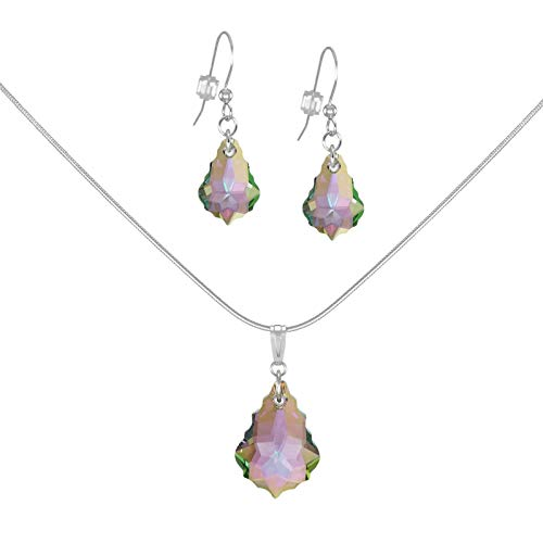 b73e9accba3a Amazon.com   SALE  Fast-and-Free-Shipping - Swarovski Crystal Baroque  Purple Aurora Borealis Sterling Silver Necklace and Earring Set  Handmade