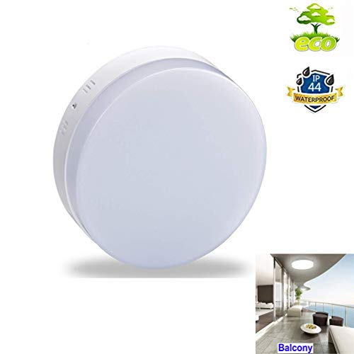 (DLLT Round LED Flush Mount Ceiling Lighting-18W IP44 Waterproof Light Fixture for Bathroom, Kitchen, Dining Room, Corridor, Hallway, Stairwell, Wet Location 6000K Cool White)