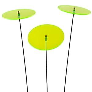 SUNPLAY Sonnenfänger-Scheiben in GRÜN, 3 Stück je 10 cm Durchmesser im Set +...