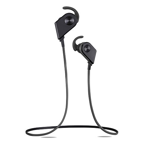 [Upgraded Version]Jayspree Bluetooth Headphones, Wireless 4.1 Magnetic Earbuds Stereo Headset, Secure Fit for Sports with Built-in Microphone,Sweatproof ,Noise Cancelling (Black)