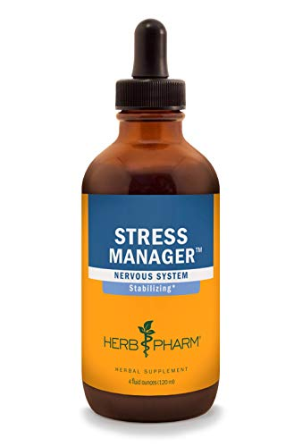 Herb Pharm Stress Manager Liquid Herbal Formula with Rhodiola and Holy Basil Liquid Extracts - 4 Ounce