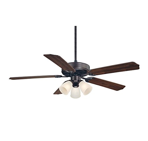 Bronze English Finish (Savoy House 52-EUP-5RV-13WG Ceiling Fan with White Marble Shades, English Bronze Finish)