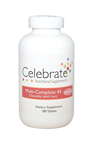 Complete 45 Tabs (Celebrate Vitamins Multi-Complete 45 Watermelon 180 Tablets)