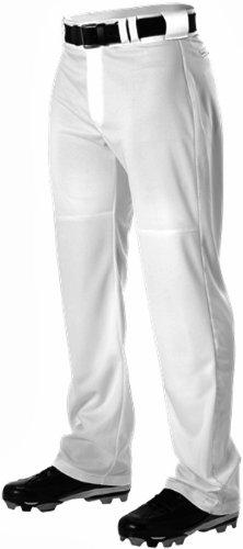 Alleson Youth Warp Knit Wide Leg Baseball Pant White XL