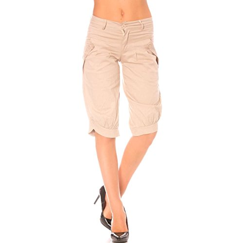 Miss Wear Line Damen Short beige beige