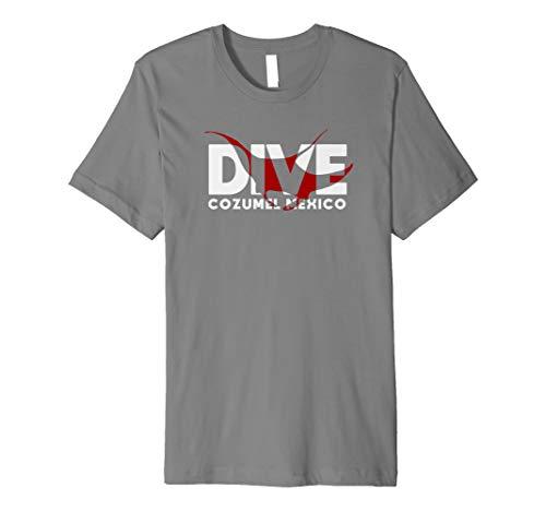 DIVE Cozumel Mexico SCUBA DIVING Diver Manta Ray Premium T-Shirt