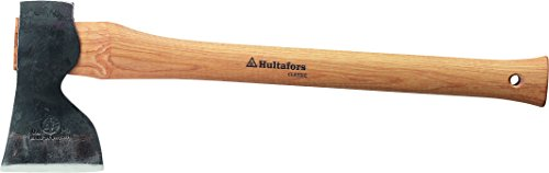 Hultafors Carpenters Axe Classic Hand-Forged Swedish Axe with American Hickory Handle, Wood by Hultafors