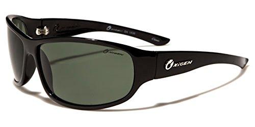 Oxigen - Lunettes de soleil - Homme Multicolore Glossy black/black lens LomZ2