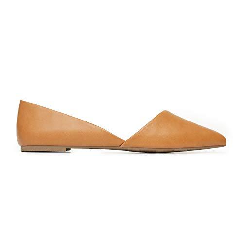 Rohb by Joyce Azria Provence D'Orsay Pointy Toe Flat (Cognac) Size -