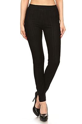 Leggings Depot Premium Quality Jeggings Regular and Plus Soft Cotton Blend Stretch Jean Leggings Pants w/Pockets