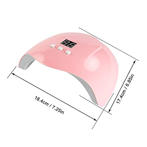 GreenLife 54W UV LED Nail Drying Lamp Nail Phototherapy Machine, Professional Fast Nail Curing Dryer Double Lights Source for Polish Gel Automatic Sensor Nail Art Tools for Manicure Pedicure