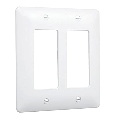 Taymac 5500W Paintable Masque Wall Plate Cover, White, 2 Gang