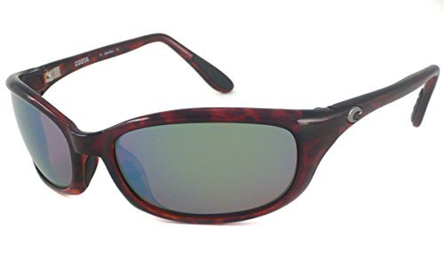 Costa Del Mar Harpoon Polarized Sunglasses, Tortoise, Green Mirror ()