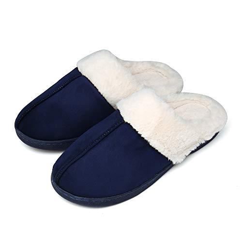 UBFEN Herren Damen Hausschuhe Memory Foam Winter Pantoffeln Wärme Halten House Schuhe Drinnen und Draußen