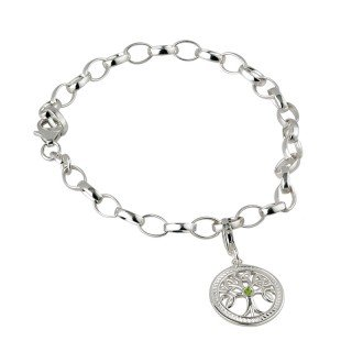 Solvar Sterling Silver 'Tree Of Life' Charm Bracelet -Failte
