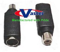 5 Pcs / Pack, 24K Hi-Resolution S-Video Female to RCA Female Adapter with Chip by VasterCable