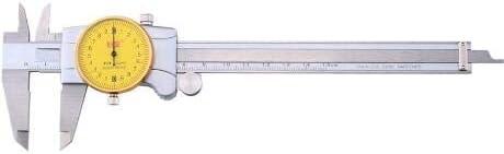 Inside Outside Step Resolution: 0.01mm MeterTo Dial Caliper Shock Proof Vernier Caliper Depth Range: 0-150mm