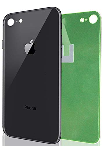 best service 66356 0b92b Apple iPhone 8 Replacement Back Glass Cover Back Battery Door  w/Pre-Installed Adhesive,Best Version Apple iPhone 8 All Models OEM  Replacement (Black)