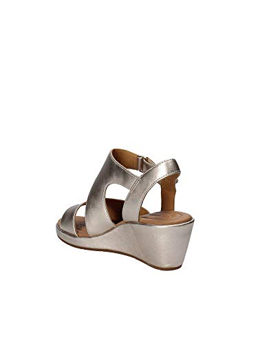 Sandalo Clarks 133487 Donna Grigio Velcro 5ZgrqwpxZ