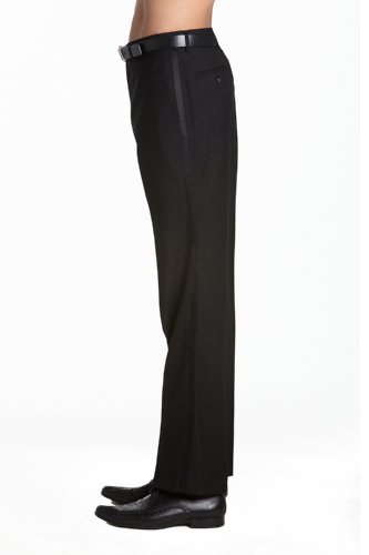 Concitor Men's Tuxedo Pants Flat Front With Satin Band