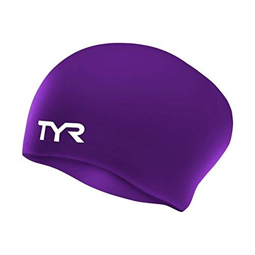Tyr Silikon Badekappe für langes Haar - Violett