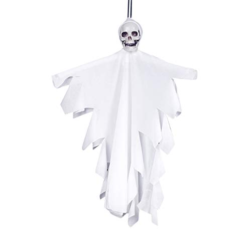 (Unionm Halloween Toys, Halloween Props, Skull Ghost Hanging Pendant DIY Decoration Toys Haunted House Decoration for Home Yard Outdoor Indoor Party Bar)