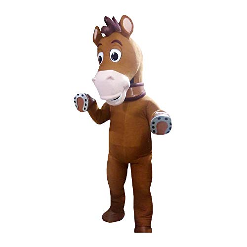 Bullseye Woody Horse Toy Story Mascot Costume Party Character Halloween Cosplay Brown -