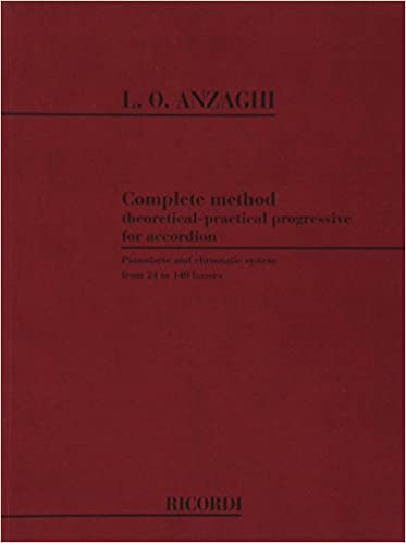 Luigi Anzaghi Complete Method For Piano Accordion Learn to Play Music Book TUTOR