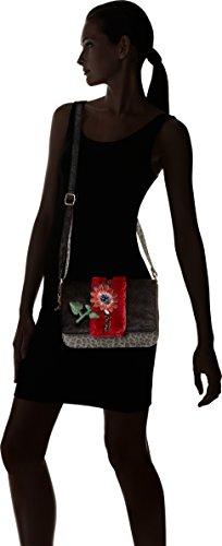 Lollipops Africa Shoulder - Shoppers y bolsos de hombro Mujer Negro (Black)
