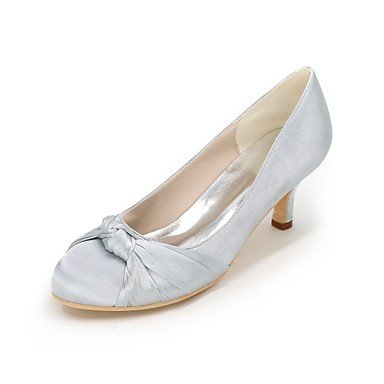 Draped Summer Best Wedding Party Basic Spring 4U For ivory Round Stiletto Evening Side Wedding Pump Satin Null Women's Null Heel Toe Shoes Shoes XrqHTwr4
